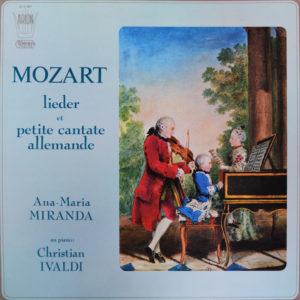 Lieder et Petite Cantate Allemande, Mozart Avec Christian Ivaldi et Ana Maria Miranda